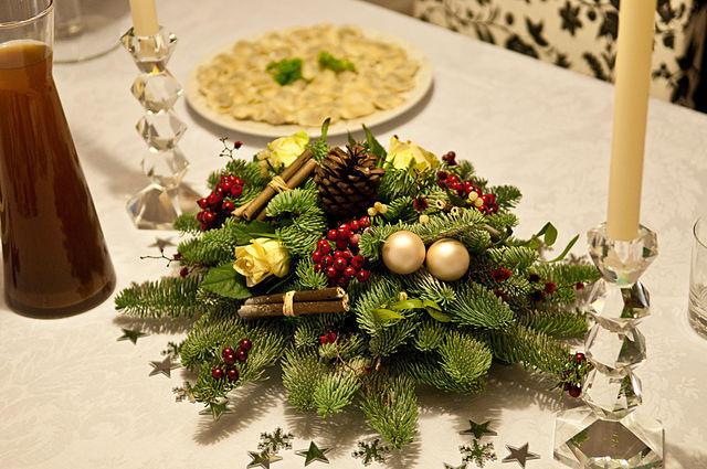 Christmas Eve dinner table
