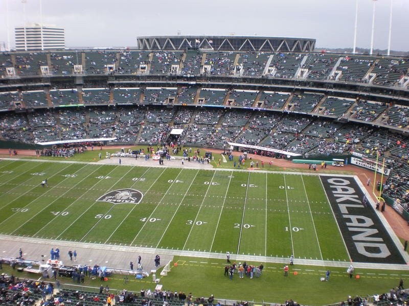 The new former Oakland Raiders stadium