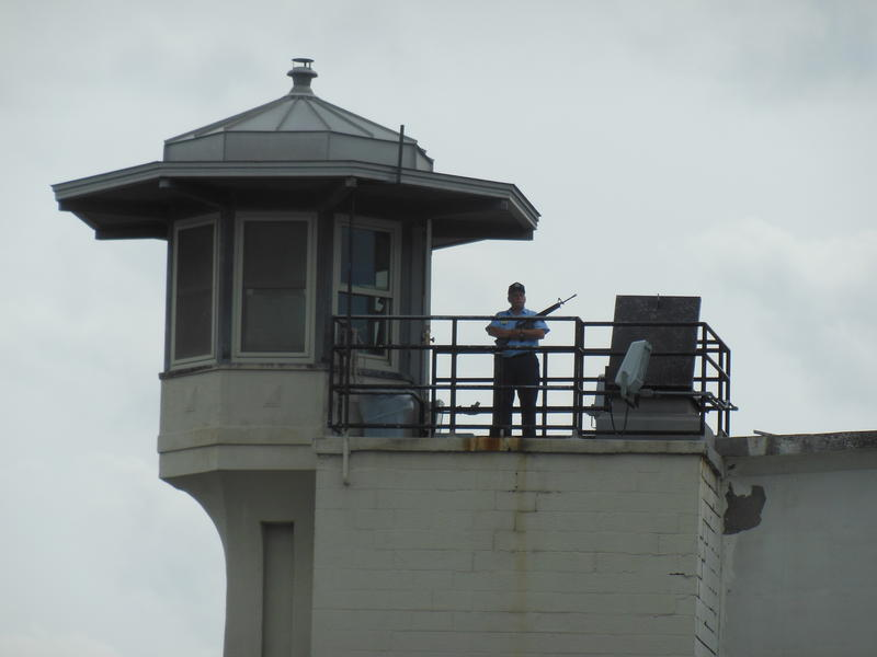 Photo of prison guard tower