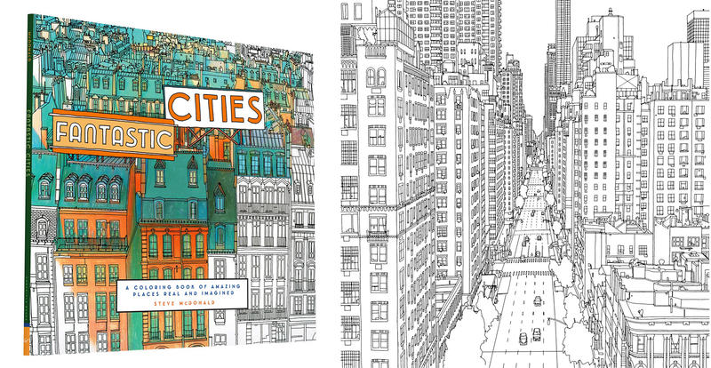 Book Cover - Fantastic Cities coloring book