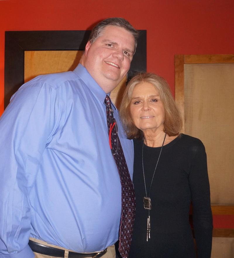 Picture of Joe Donahue and Gloria Steinem