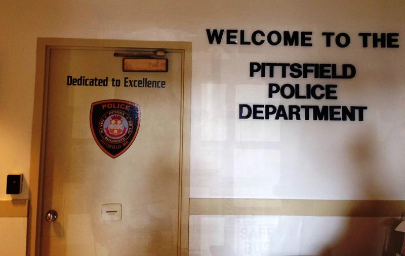 This is a picture of the inside of the Pittsfield Police station