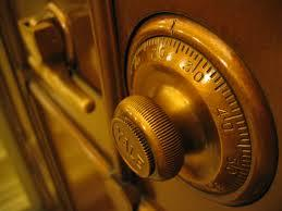 This is a picture of a money safe lock