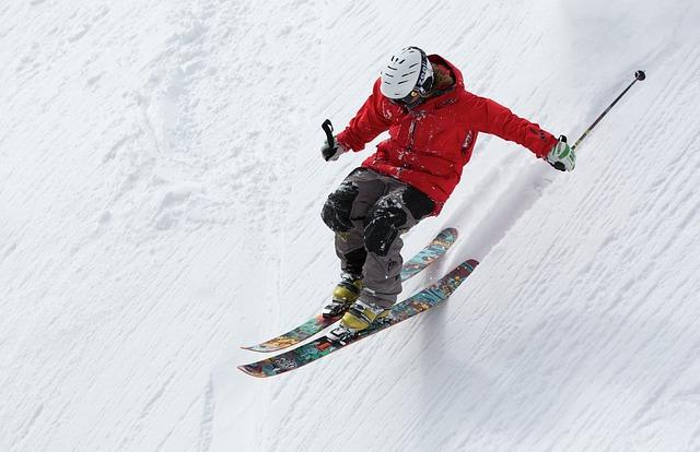 This is a picture of a person skiing