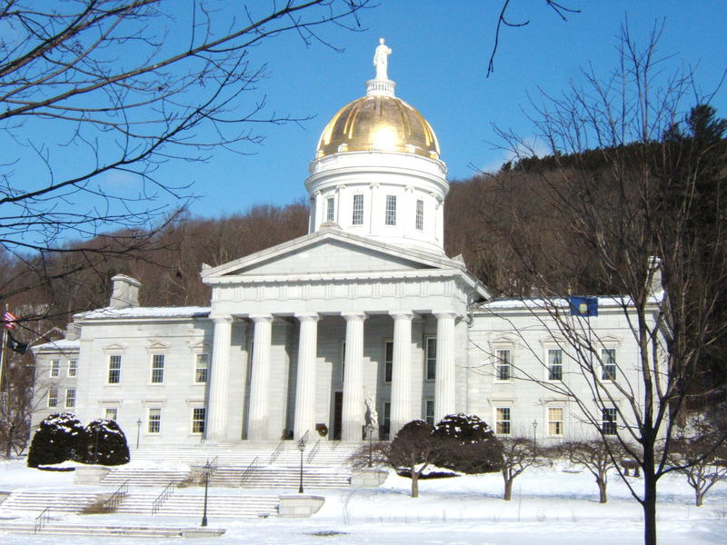 Photo of Vermont Statehouse in winter