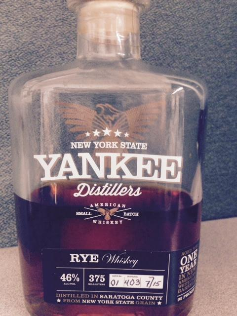 Rye whiskey from Yankee Distillers