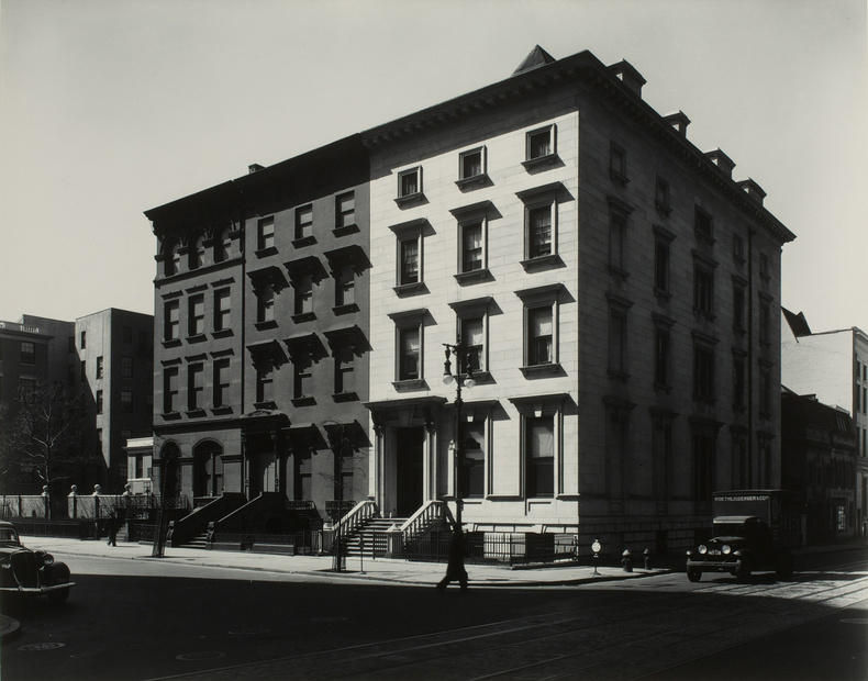 Berenice Abbott, Fifth Avenue Houses No. 4, 6, 8