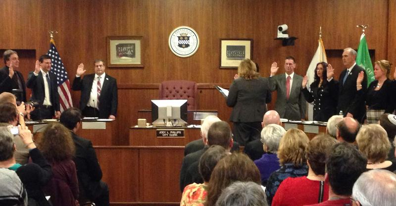 This is a picture of the Pittsfield City Councilors being sworn into office at City Hall on January 4th.