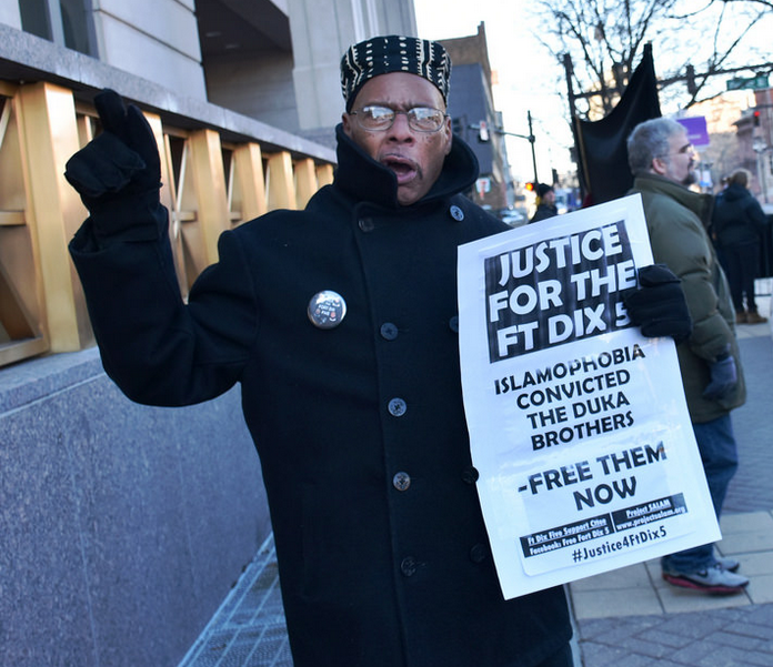 Outside of of the Mitchell H. Cohen Building & U.S. Courthouse, Camden, NJ. prior to the hearing for the Duka brothers on January 6, 2016