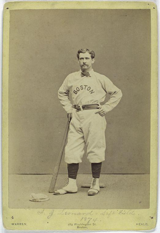 This is a picture of Andrew Leonard in 1874 when he played left field for the Boston Red Stockings