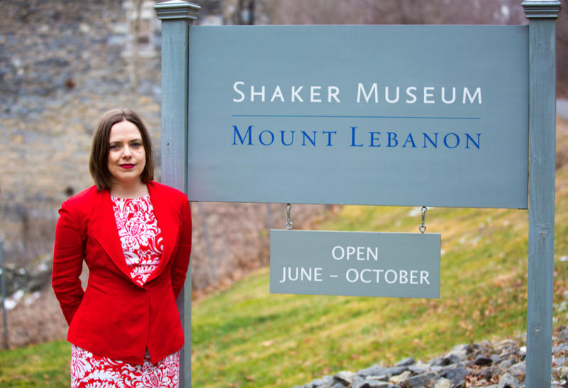 This is a picture of Lacy Schutz, the new executive director of the Shaker Museum Mount Lebanon.