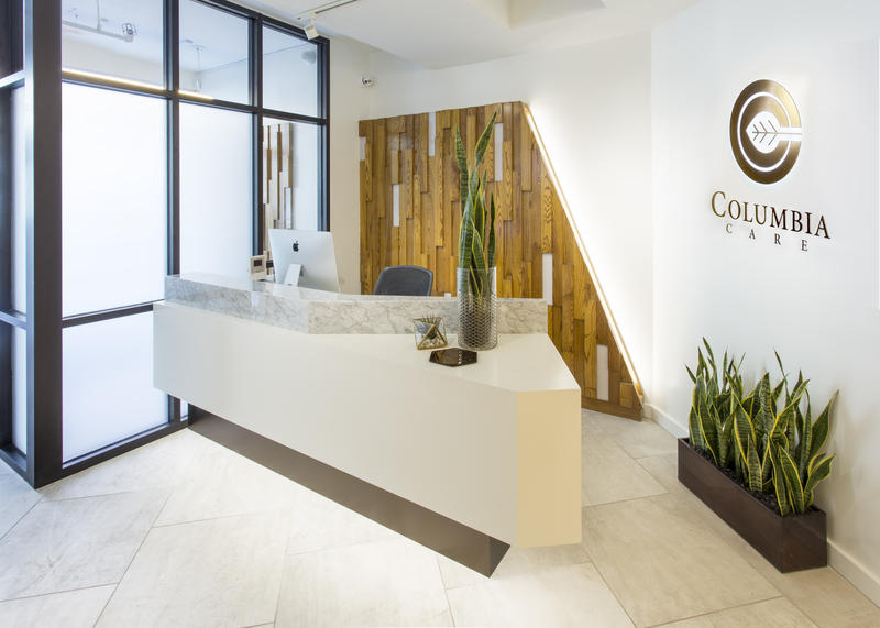 Columbia Care NY's 14th St. dispensary reception desk