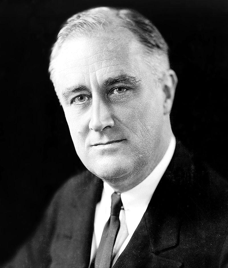 This is a picture of President Franklin Delano Roosevelt