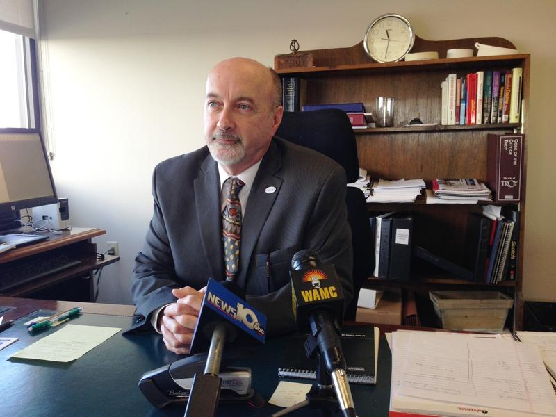 Troy Mayor Patrick Madden in his City Hall office, January 18, 2016.