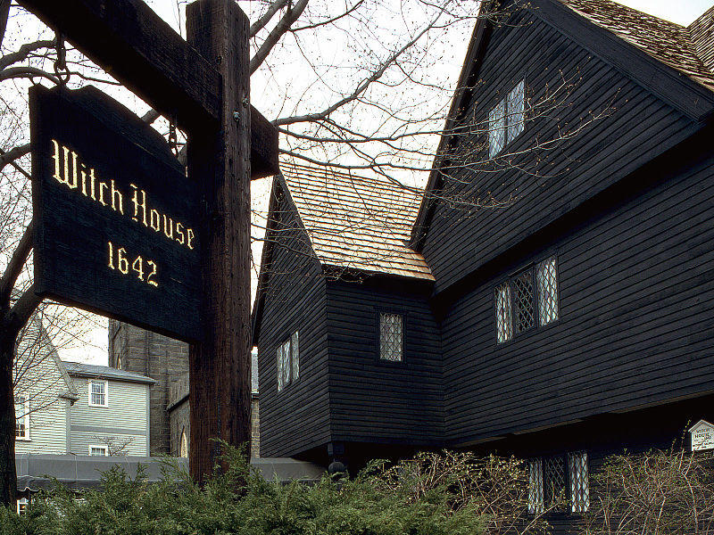 This is a picture of the Salem Witch House