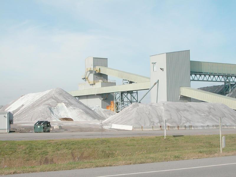 Salt Mine in Mount Morris, New York.
