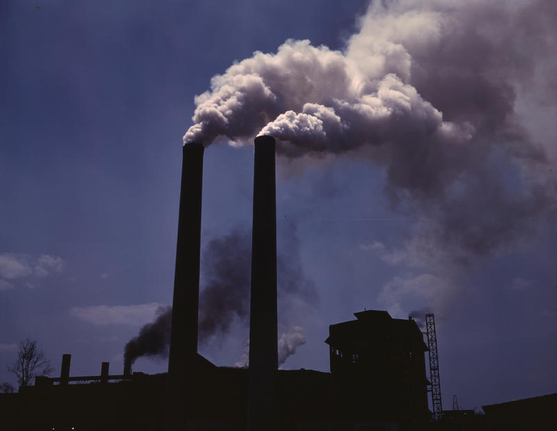 This is a picture of smokestacks