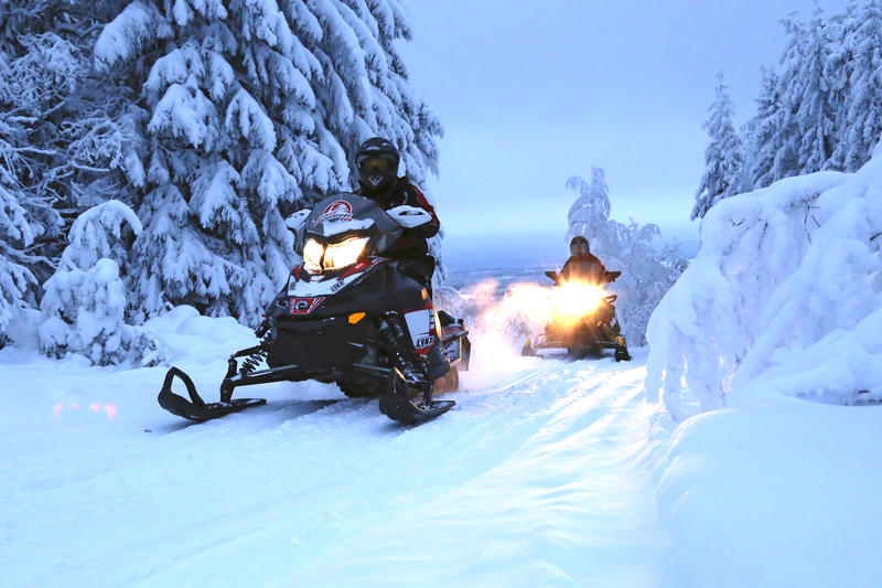 Snowmobiles in Finald