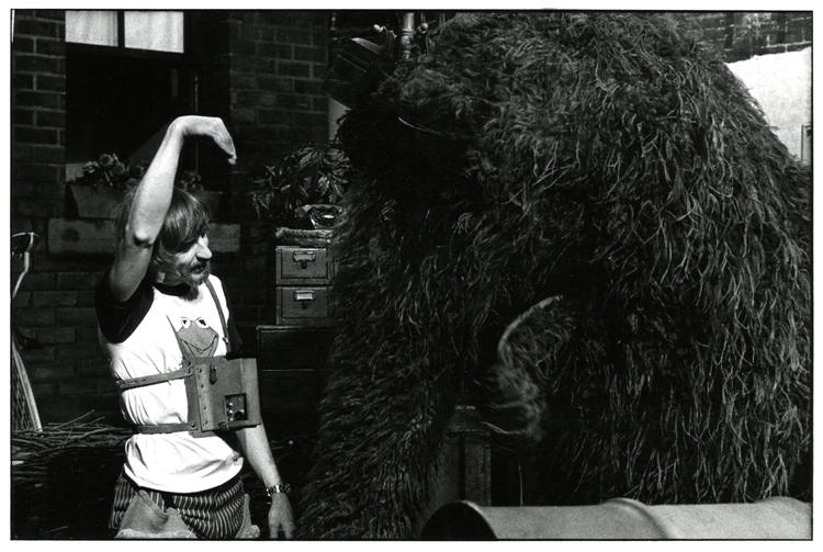 Caroll Spinney and Snuffleupagus