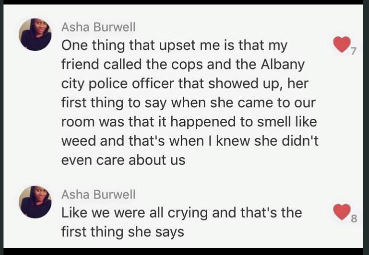 One of Asha Burwell's original posts about the bus incident.
