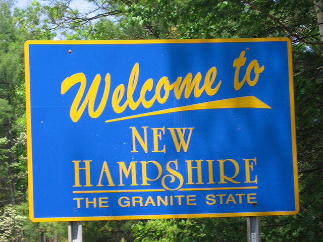 This is a picture of a New Hampshire welcome sign