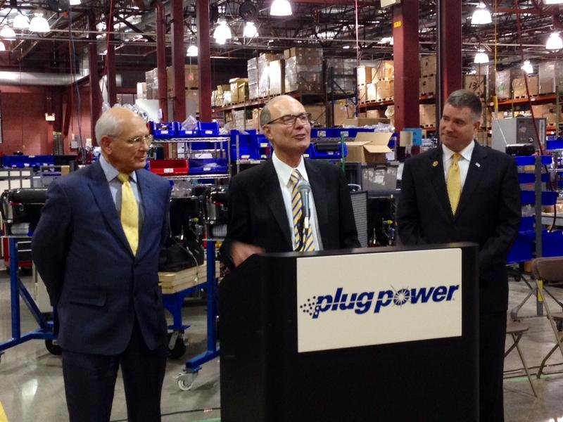 Congressman Paul Tonko, Plug Power CEO Andy Marsh, Congressman Chris Gibson