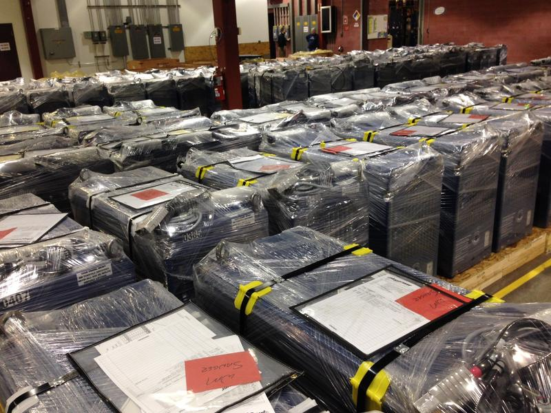 Plug Power products ready to be shipped around the world.