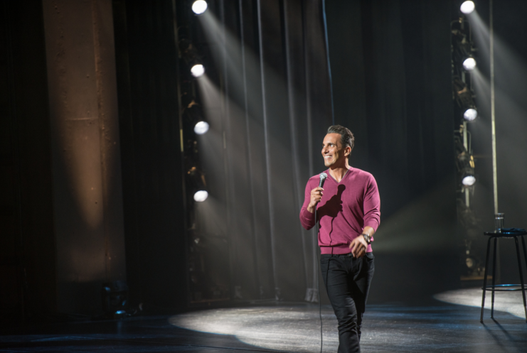 Sebastian Maniscalco performing stand-up comedy