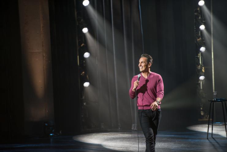 Sebastian Maniscalco performing stand-up comedy