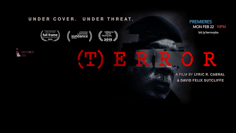 This is the poster for the documentary (T)ERROR