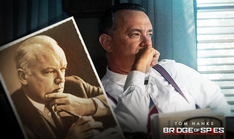 Tom Hanks as James Donovan (inset) in Bridge of Spies