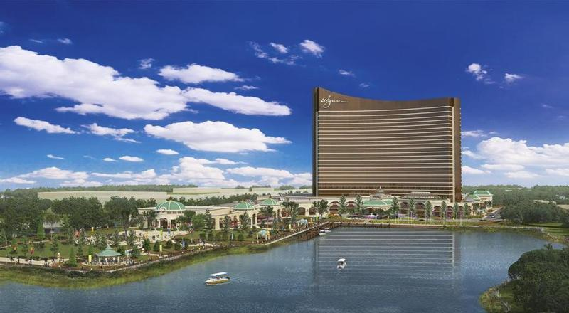 Artists rendering of proposed Wynn casino in Everett Mass.