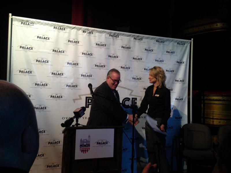 Cohoes Mayor Shawn Morse and Palace Theatre Executive Director Holly Brown