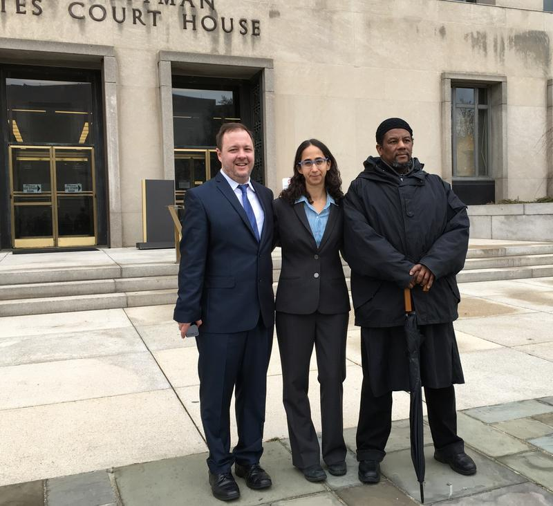 Daniel McGowan, plaintiff; attorney Rachel Meeropol; plaintiff  Abdul Ali