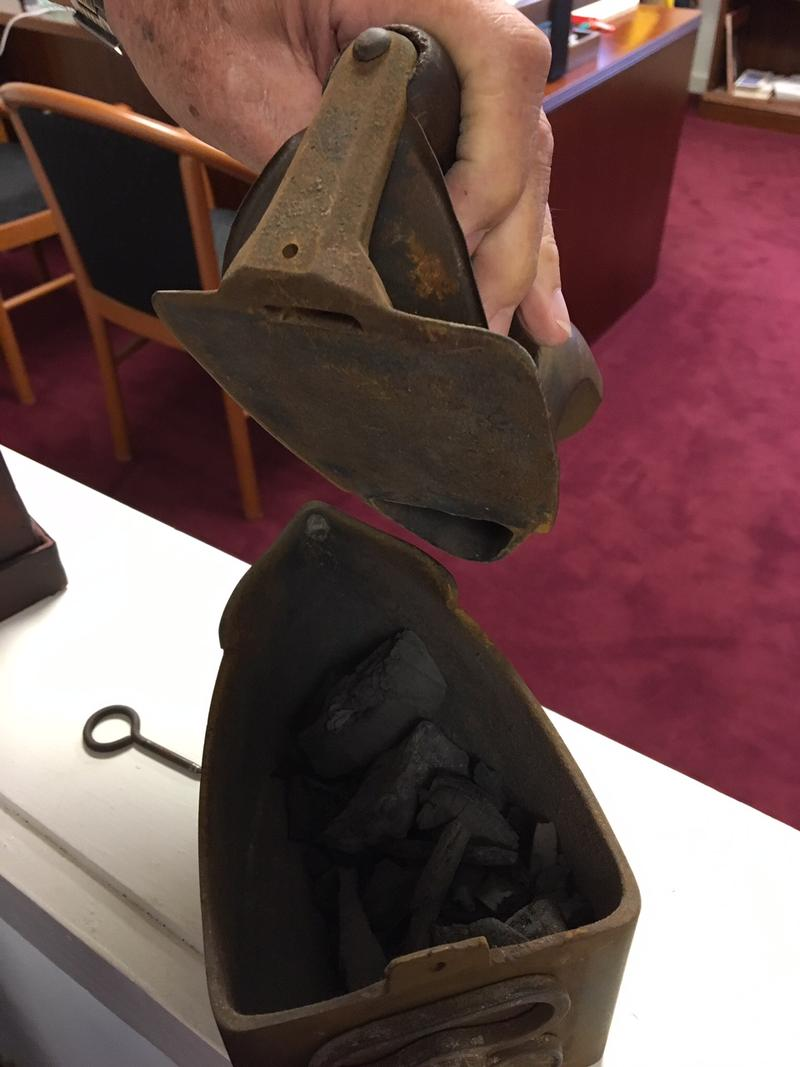 1850s clothing Iron - place hot coals inside first!
