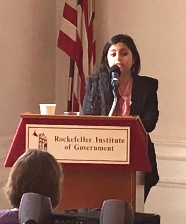 Panelist Sana Mustafa took a train up from in Annandale-On-Hudson to participate in the discussion.