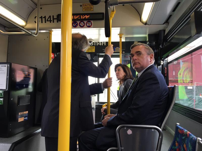 Schenectady Mayor Gary McCarthy on a Rivers Casino bus tour. (Mar 16, 2016 )