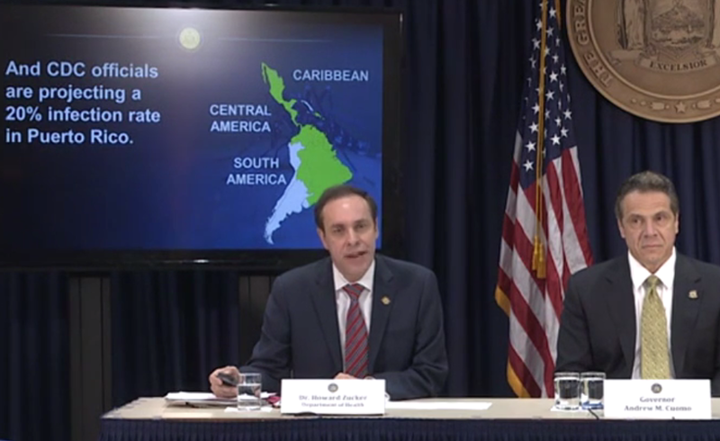 With 49 cases so far in the state of New York, Health Commissioner Dr. Howard Zucker and Governor Andrew Cuomo announced a plan to combat transmission of the Zika virus.