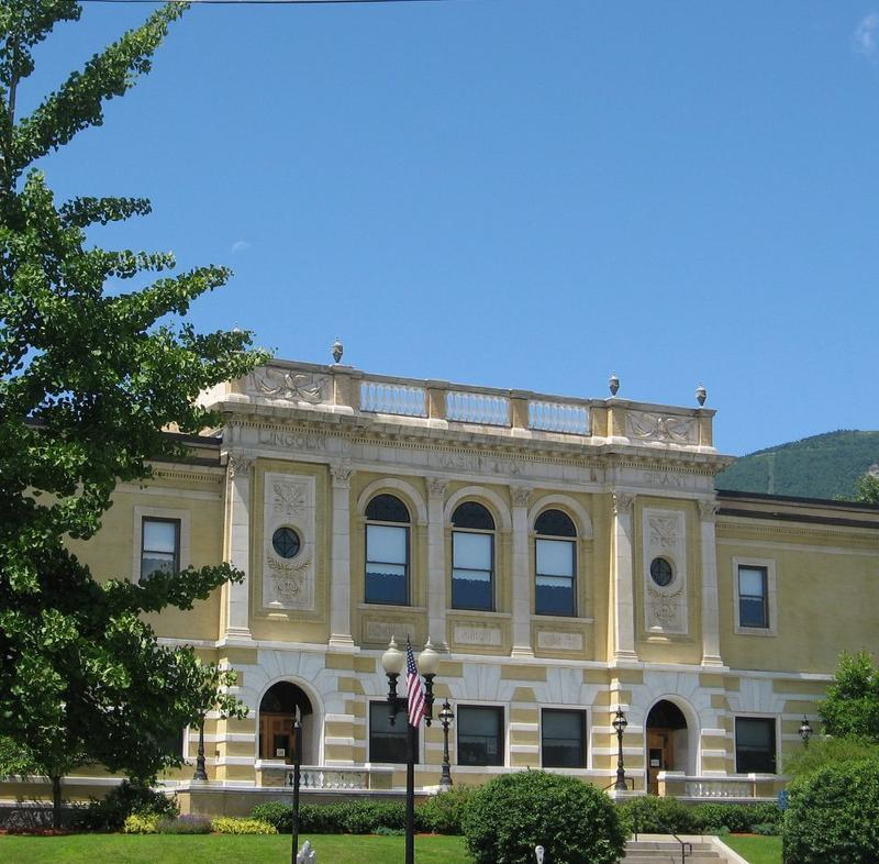 This is a picture of the Adams Free Library