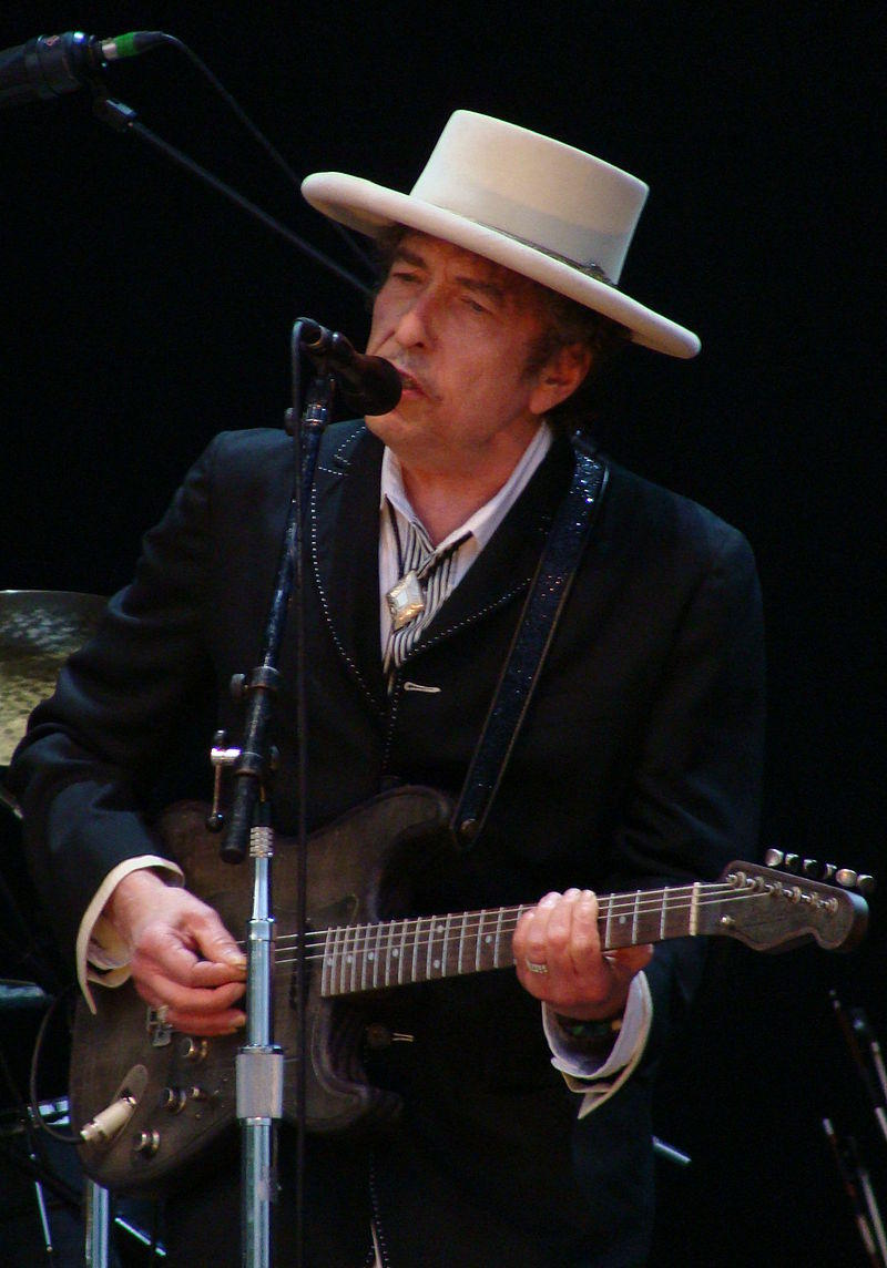 This is a picture of Bob Dylan