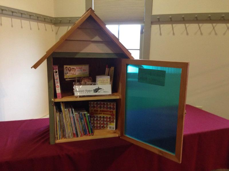 This is a picture of a 46 pound, 3-foot tall wooden book house.