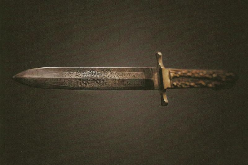 Picture of the knife used to cut Union Army Officer Henry Rathbone during the assassination of Abraham Lincoln.