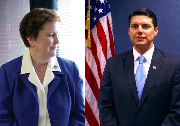 "Assemblywoman Janet Duprey (left) and D ""Billy"" Jones"