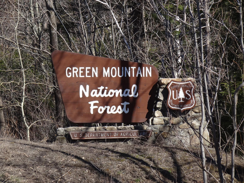 Green Mountain National Forest signboard