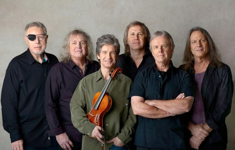 The rock band Kansas is performing at Pittsfield's Colonial Theatre Saturday. From left to right is Richard Williams, Billy Greer, David Ragsdale, Ronnie Platt, Phil Ehart, and David Manion