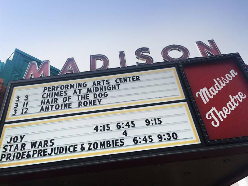 Marquee of The Madison Theater in Albany, NY