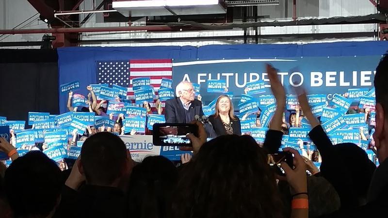 Bernie Sanders speaks to enthusiastic crowd in Vermont