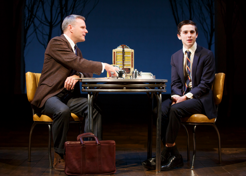 "Chris McGarry and Timothee Chalamet in ""Prodigal Son"" at Manhattan Theatre Club."