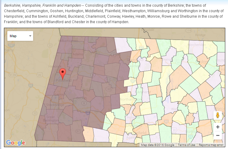 This is a picture of the Berkshire, Hampshire, Franklin and Hampden Senate District