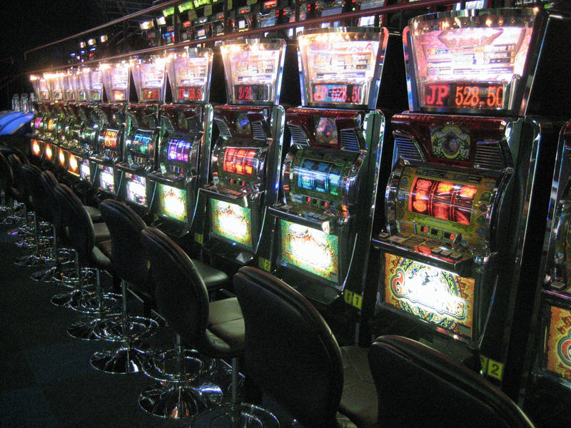 This is a picture of slot machines
